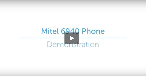 Mitel 6940 IP Phone Demo Video Playback Graphic